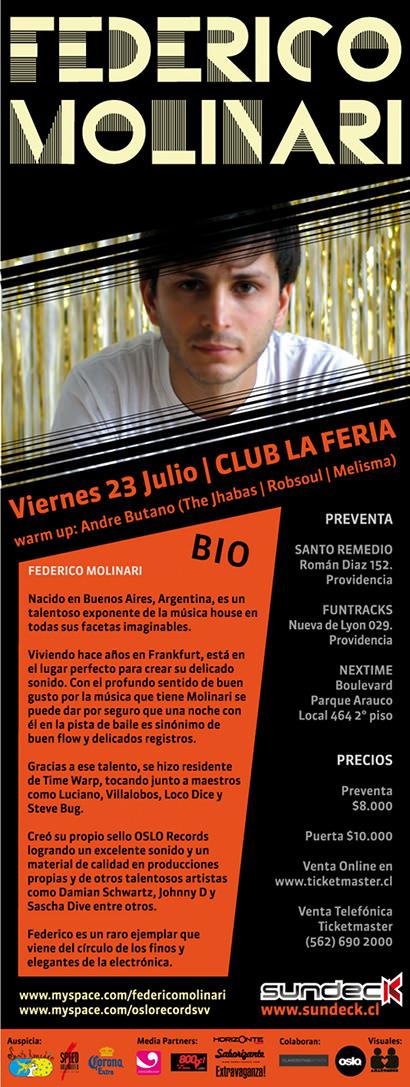 VIE/23/07 Federico Molinari en Club La Feria 3