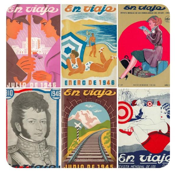 Las maravillosas portadas de la revista En Viaje 1