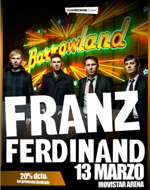 A la venta las entradas para el concierto de Franz Ferdinand 3