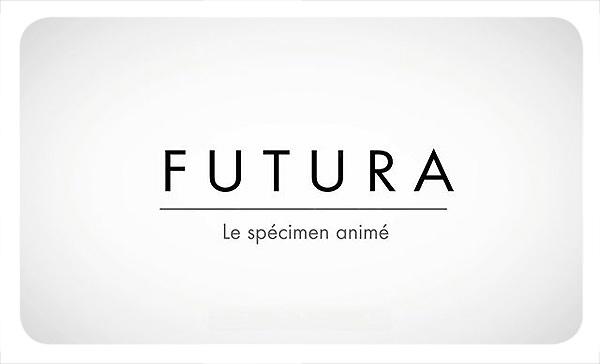 Tipografía Futura, el especímen animado 1