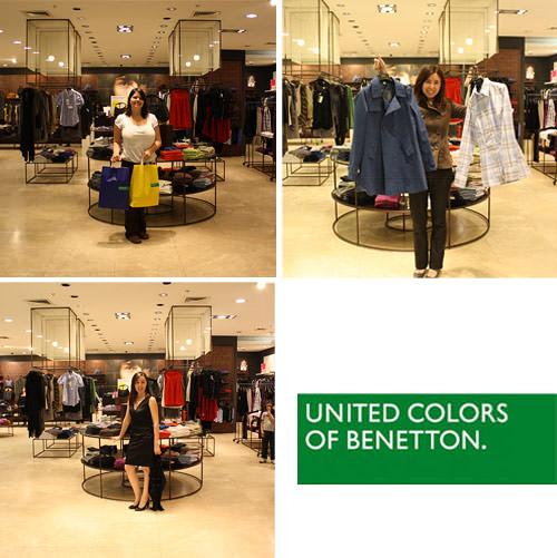 Ganadoras de las 3 tenidas Benetton 1