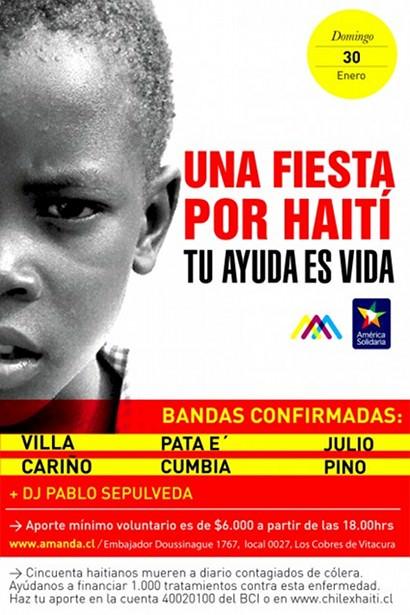 Música chilena por Haití 1