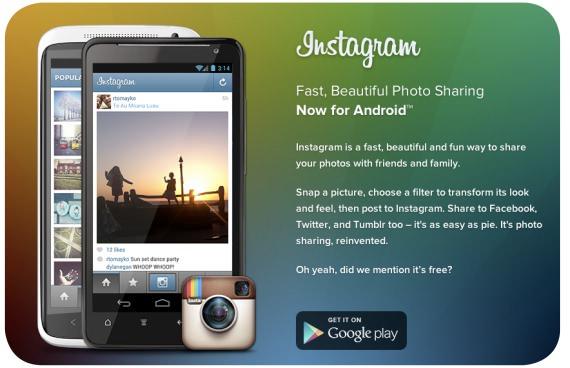 Instagram, ahora en Android 5
