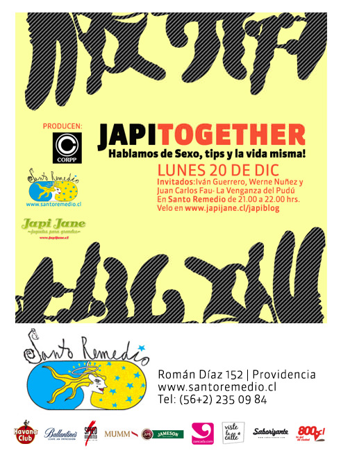 LUN/20/12 Japi Together/ Santo Remedio y Japi Jane. 1