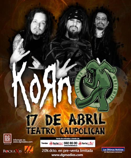 Quedan pocos días para el concierto de Korn 1