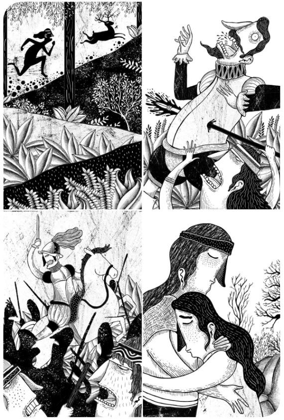 La Araucana ilustrada por Alberto Montt 2