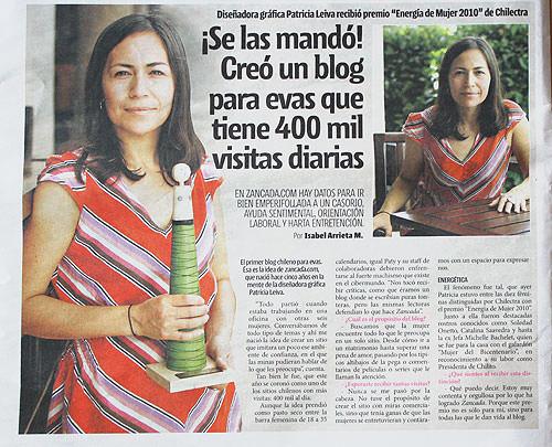 Nuestra Paty Leiva (y Michelle Bachelet!) en la premiación Energía de Mujer 2010 4