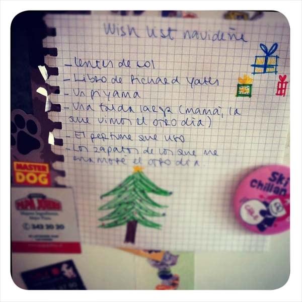 La lista de regalos para navidad 1