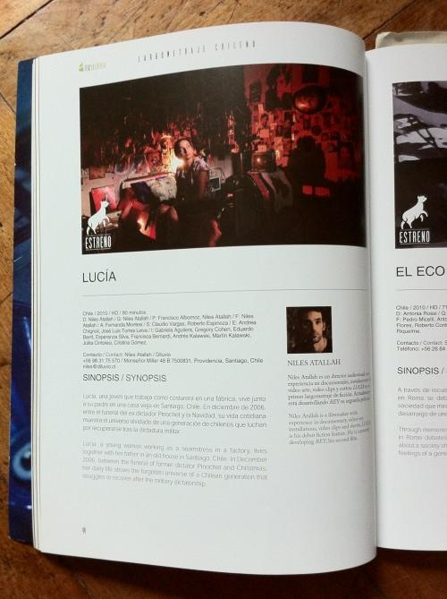 Lucía de Niles Atallah en Festival de Cine B 1