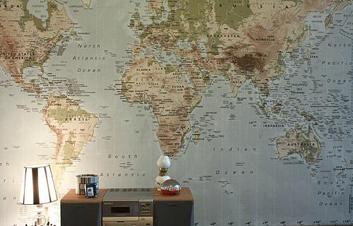 Simple idea de decoración: mapamundi 1