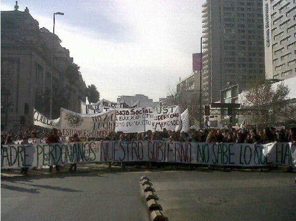 La marcha estudiantil del 14 de julio 1