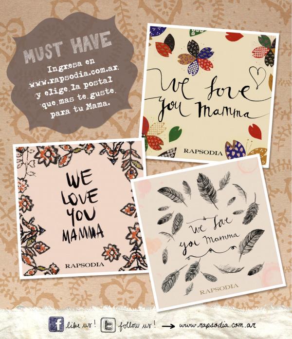 Postales de Rapsodia para el día de la madre 3
