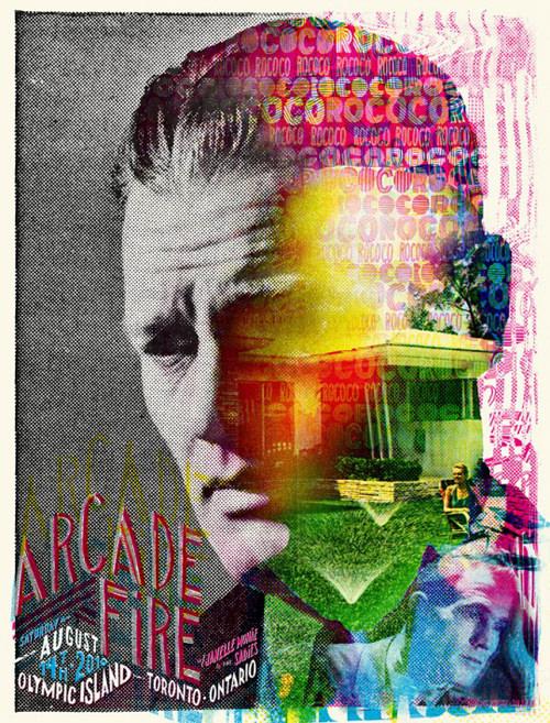 Los afiches de la gira de Arcade Fire 3