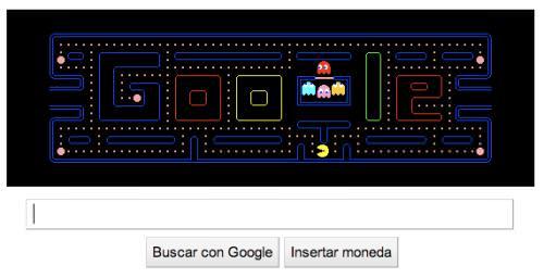 Ya jugaste Pacman en la portada de Google? 1