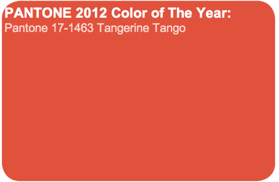Tangerine tango: El color de año según Pantone 5