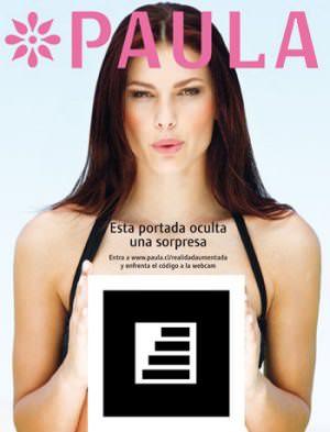 Realidad Aumentada en la portada de revista Paula 1