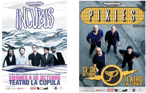 Incubus y Pixies tocarán solos en La Cúpula 1