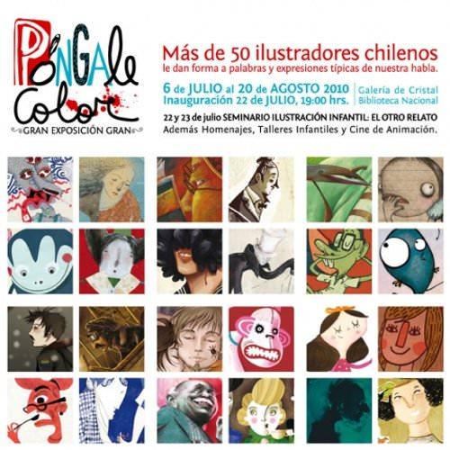 Póngale Color: ilustradores chilenos en la Biblioteca Nacional 5
