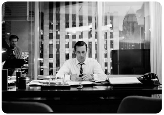 Fotos en el set de Mad Men, la perfección en blanco y negro 3