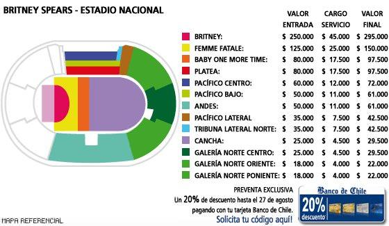 Britney en Chile el 22 de noviembre: entradas a la venta 2