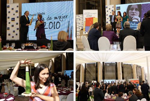Nuestra Paty Leiva (y Michelle Bachelet!) en la premiación Energía de Mujer 2010 2