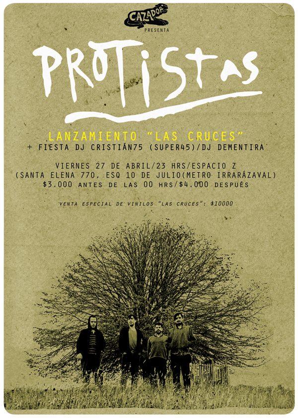 """Hoy: lanzamiento del disco """"Las Cruces"""" de Protistas 3"""