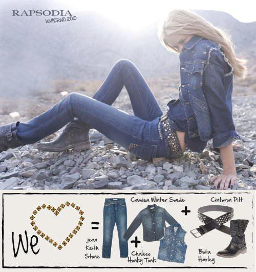 Jeans y tachas en Rapsodia 2