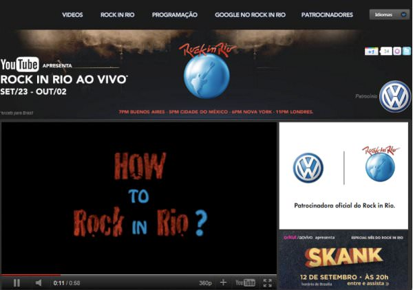 Rock in Rio en YouTube 1