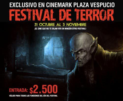 Festival de cine de terror en Cinemark Plaza Vespucio 5