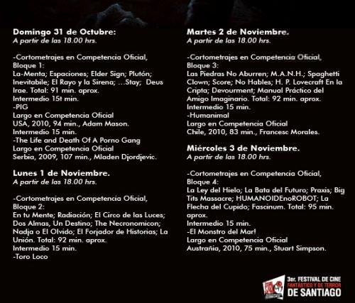 Festival de cine de terror en Cinemark Plaza Vespucio 6