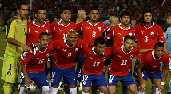 Los partidos de Chile en la Copa América  1
