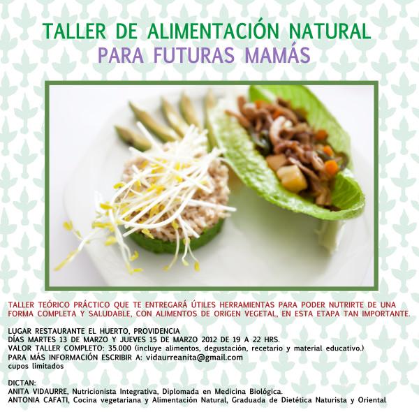 Taller sobre nutrición y alimentación natural y vegetariana en el embarazo 1
