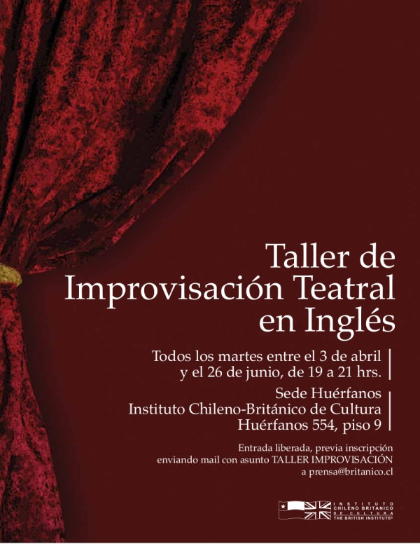 Taller de improvisación teatral en inglés, gratis 1