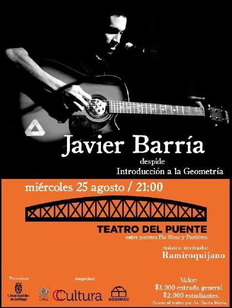 MIE/25/08 Javier Barría en vivo 3