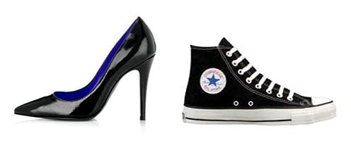 Zapatillas versus Zapatos Zancada